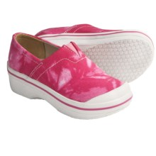 Dansko Vesta Clogs - Coated Canvas, Slip-Ons (For Boys and Girls) in Pink Tie Dye - Closeouts