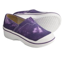 Dansko Vesta Clogs - Coated Canvas, Slip-Ons (For Boys and Girls) in Purple Tie Dye - Closeouts