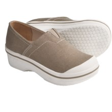 Dansko Vesta Clogs - Coated Canvas, Slip-Ons (For Boys and Girls) in Sand Canvas - Closeouts
