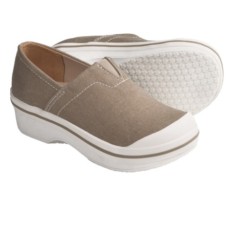 Dansko Vesta Clogs - Coated Canvas, Slip-Ons (For Boys and Girls) in Sand Canvas