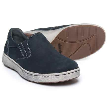 Dansko Viktor Sneakers - Nubuck, Slip-Ons (For Men) in Navy Milled Nubuck - Closeouts