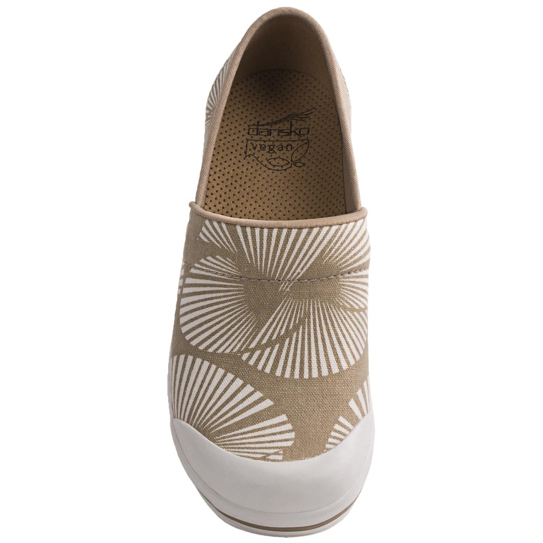 Women Dansko White Canvas Shoes