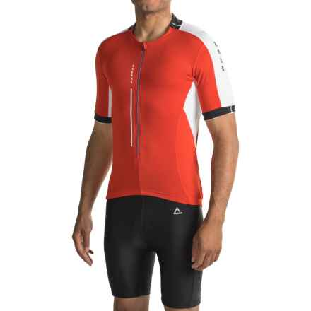 Dare 2b Astir Cycling Jersey - Zip Neck, Short Sleeve (For Men) in Fiery Red - Closeouts