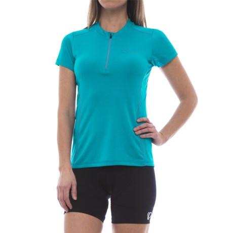 Dare 2b Configure II Cycling Jersey - Zip Neck, Short Sleeve (For Women) in Fluro Blue