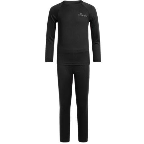 Dare 2b Cool Off III Thermal Base Layer Set - Long Sleeve (For Big and Little Girls) in Black