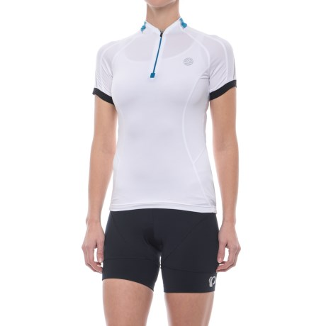 Dare 2b Emerge Cycling Jersey - Zip Neck, Short Sleeve (For Women) in White