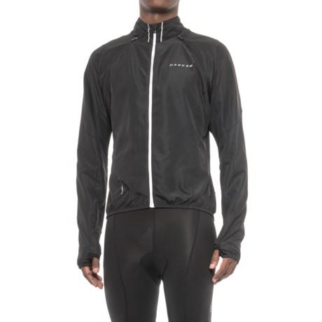 Dare 2b Enshroud Windshell Convertible Cycling Jacket - Full Zip (For Men) in Black