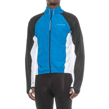 Dare 2b Enshroud Windshell Convertible Cycling Jacket - Full Zip (For Men) in Sky Diver Blue - Closeouts