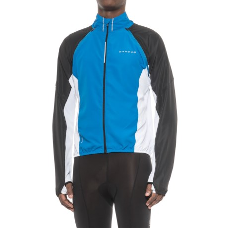 Dare 2b Enshroud Windshell Convertible Cycling Jacket - Full Zip (For Men) in Sky Diver Blue