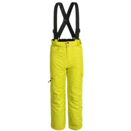 Dare 2b Freestand Salopettes Ski Pants - Waterproof, Insulated (For Little and Big Kids) in Neon Spring - Closeouts