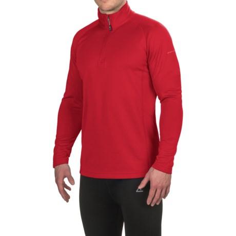 Dare 2b Fuseline 2 Long Sleeve Shirt - Zip Neck, Long Sleeve (For Men) in Red Alert