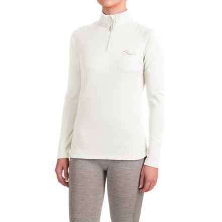 Dare 2b Loveline II Shirt - Zip Neck, Long Sleeve (For Women) in White - Closeouts