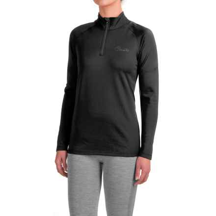 Dare 2b Loveline III Stretch Shirt - Zip Neck, Long Sleeve (For Women) in Black - Closeouts