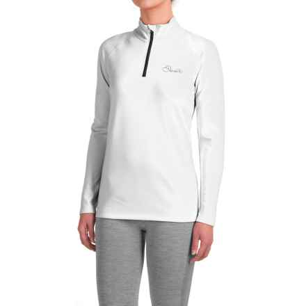 Dare 2b Loveline III Stretch Shirt - Zip Neck, Long Sleeve (For Women) in White - Closeouts