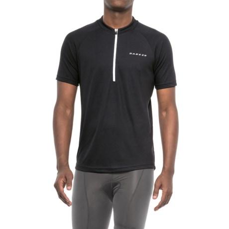 Dare 2b Prelation Cycle Jersey - Zip Neck, Short Sleeve (For Men) in Black