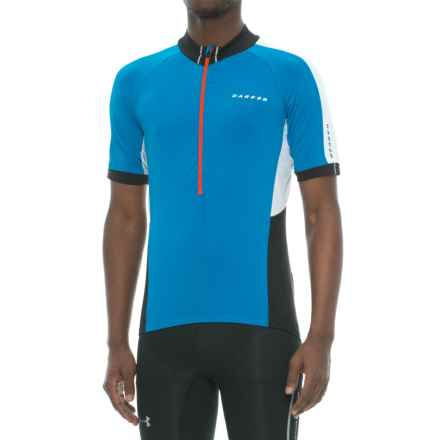 Dare 2b Retribute Cycling Jersey - Zip Neck, Short Sleeve (For Men) in Sky Diver Blue - Closeouts