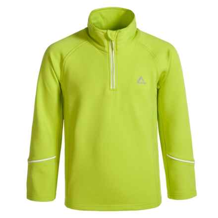 Dare 2b Ricochet Core Stretch Fleece Jacket - Zip Neck (For Little and Big Girls) in Lime Zest - Closeouts