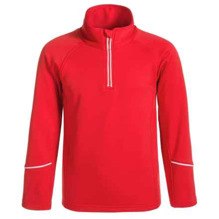 Dare 2b Ricochet Core Stretch Fleece Jacket - Zip Neck (For Little and Big Girls) in Red Alert - Closeouts