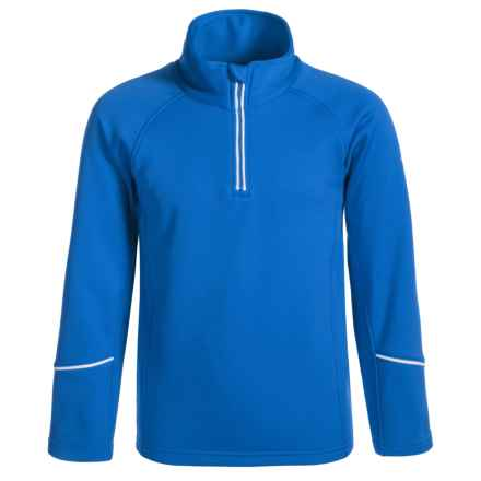 Dare 2b Ricochet Core Stretch Fleece Jacket - Zip Neck (For Little and Big Girls) in Skydiver Blu - Closeouts