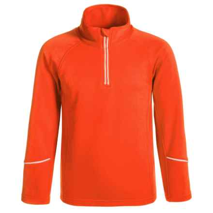 Dare 2b Ricochet Core Stretch Fleece Jacket - Zip Neck (For Little and Big Girls) in Trail Blaze - Closeouts
