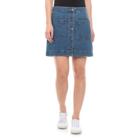 Image of Dark Denim Don't Get Me Wrong Skirt (For Women)