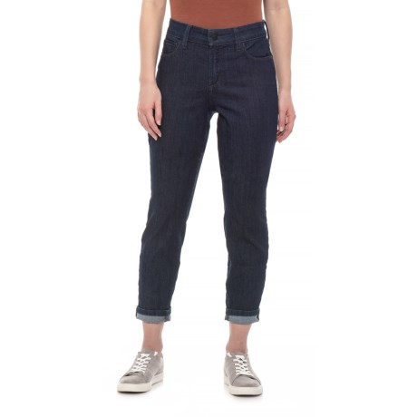 Image of Dark Enzyme Wash Alina Convertible Ankle Jeans (For Women)