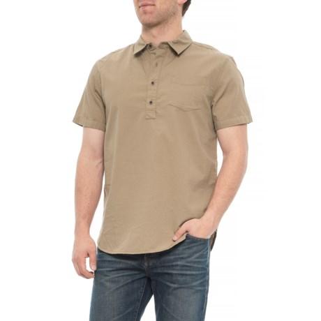 Image of Dark Khaki Brandt Shirt - Organic Cotton, Short Sleeve (For Men)