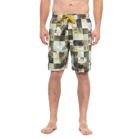 Image of Dark Khaki Bungalow Swim Trunks (For Men)