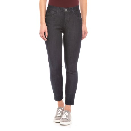 Image of Dark Navy AbTechnology Ankle Jeans - High Rise (For Women)