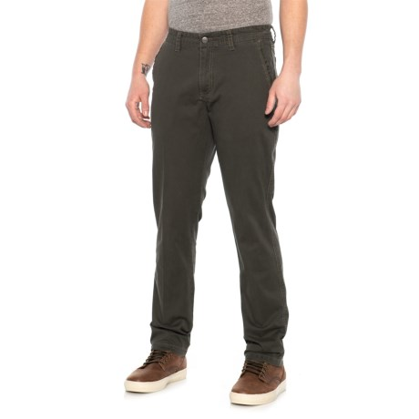 Image of Dark Olive Stretch Twill Pants (For Men)