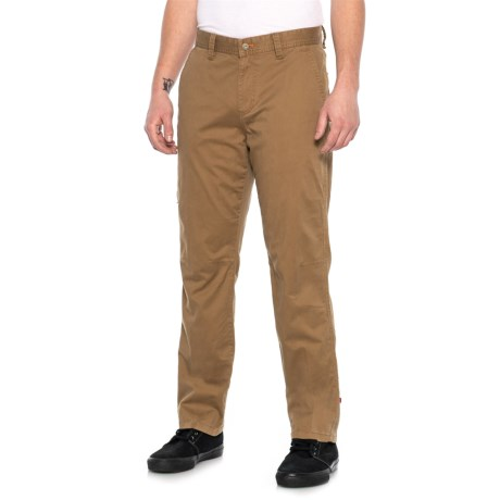 Dark Sand Stretch Twill Pants (For Men)