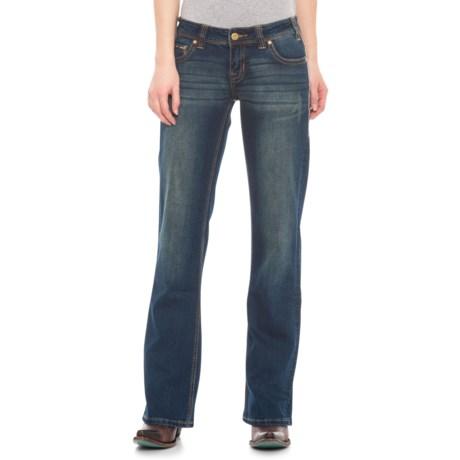 Dark Vintage Wash Feather-Stitch Extra-Stretch Riding Jeans - Bootcut (For Women) - DARK VINTAGE WASH ( )