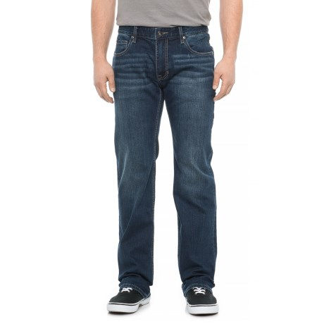 Image of Dark Wash Classic Straight Fit Jeans (For Men)
