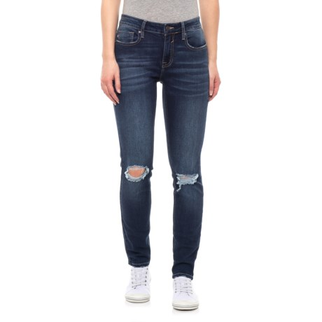 Image of Dark Wash Jagger Skinny Jeans - Mid-Rise (For Women)