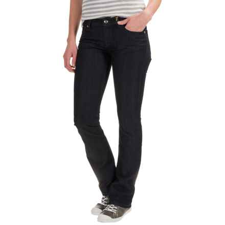 Dark-Wash Rhinestone Rivet Jeans - Slim Fit (For Women) in Varnish - 2nds
