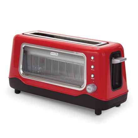 Dash Clearview Toaster in Red - Closeouts