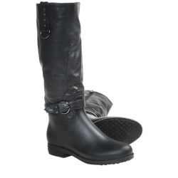 Dav English Dome Solid Rain Boots - Waterproof (For Women) in Black