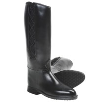 Dav Equestrian Corded Rain Boots (For Women) in Black - Closeouts