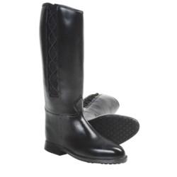 Dav Equestrian Corded Rain Boots (For Women) in Black