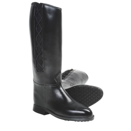 Dav Equestrian Corded Rain Boots (For Women) in Black