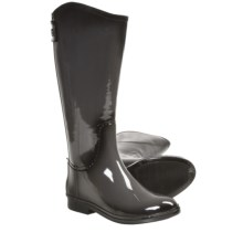 Dav Equestrian Rain Boots - Waterproof (For Women) in Gunmetal - Closeouts