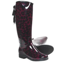 Dav Victoria Lynx Rain Boots - Waterproof (For Women) in Garnet - Closeouts