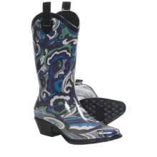 Dav Western Cowboy Karma Rain Boots (For Women) in Blue - Closeouts