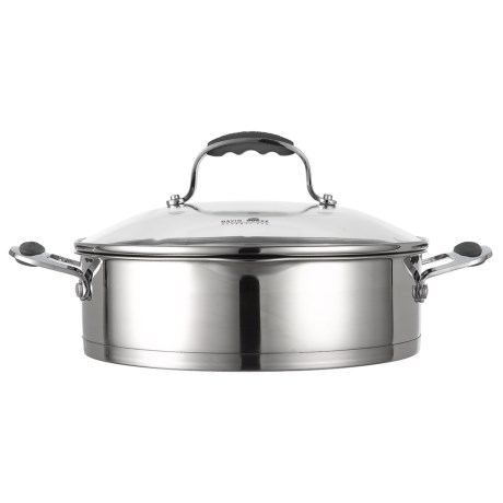 David Burke Gourmet Stature Series Everyday Pan With Glass Straining