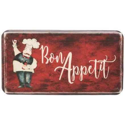 "David Burke Premier Kitchen ""Bon Appetit"" Anti-Fatigue Kitchen Mat - 20x36"" in See Photo - Closeouts"