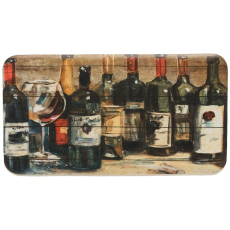 "David Burke Premier Kitchen Assorted Wines Anti-Fatigue Kitchen Mat - 20x36"" in See Photo"