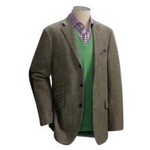 David Chu Herringbone Sport Coat - Wool (For Men) in Black / Natural - Closeouts