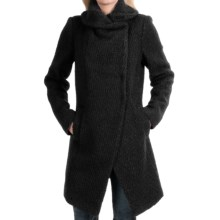Dawn Levy Adelaide Coat - Boiled Wool (For Women) in Black - Closeouts