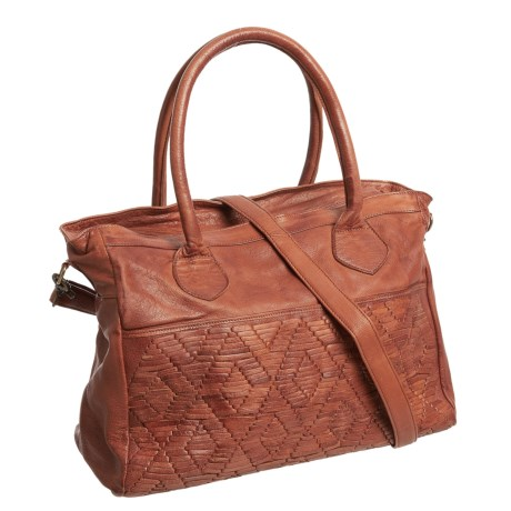 Day & Mood Amber Satchel - Leather (For Women) in Cognac