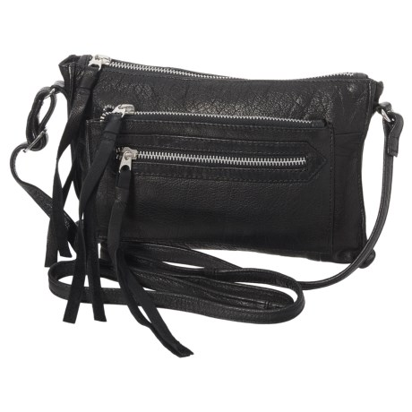 Day & Mood Anni Crossbody Bag - Leather (For Women) in Black